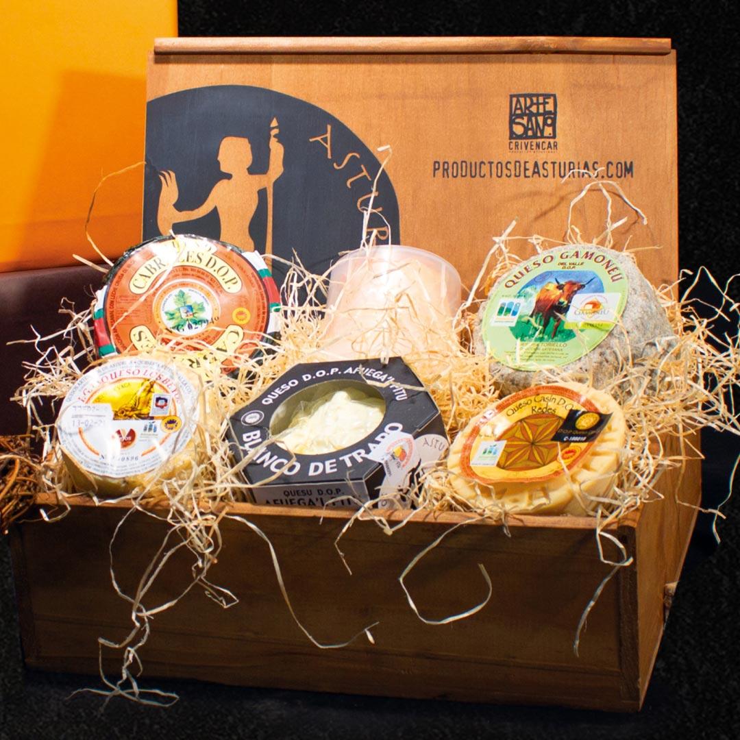 Cesta regalo de quesos DOP e IGP